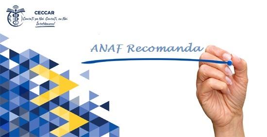 ANAF recomand