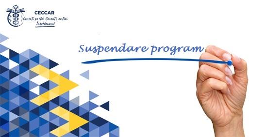 Suspendare program